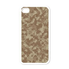 Camouflage Tarn Texture Pattern Apple Iphone 4 Case (white) by Onesevenart
