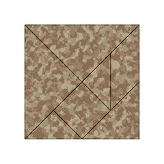 Camouflage Tarn Texture Pattern Acrylic Tangram Puzzle (4  X 4 ) by Onesevenart