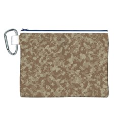 Camouflage Tarn Texture Pattern Canvas Cosmetic Bag (l) by Onesevenart