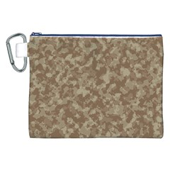Camouflage Tarn Texture Pattern Canvas Cosmetic Bag (xxl) by Onesevenart