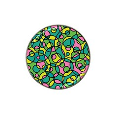 Circle Background Background Texture Hat Clip Ball Marker by Onesevenart