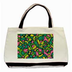 Circle Background Background Texture Basic Tote Bag by Onesevenart