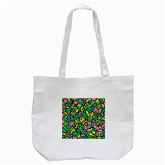 Circle Background Background Texture Tote Bag (white) by Onesevenart