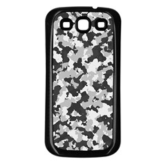 Camouflage Tarn Texture Pattern Samsung Galaxy S3 Back Case (black) by Onesevenart