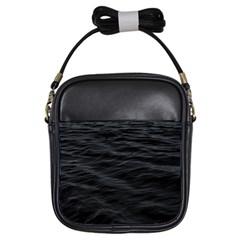 Dark Lake Ocean Pattern River Sea Girls Sling Bags by Onesevenart
