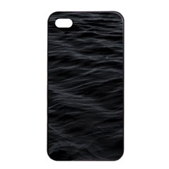 Dark Lake Ocean Pattern River Sea Apple Iphone 4/4s Seamless Case (black) by Onesevenart