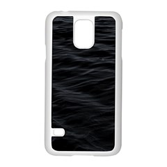 Dark Lake Ocean Pattern River Sea Samsung Galaxy S5 Case (white) by Onesevenart