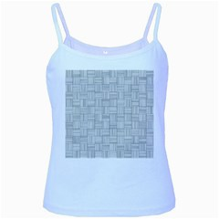 Flooring Household Pattern Baby Blue Spaghetti Tank by Onesevenart