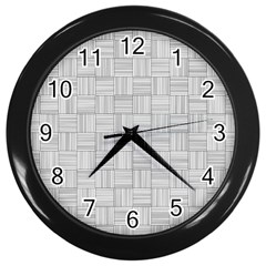 Flooring Household Pattern Wall Clocks (black) by Onesevenart