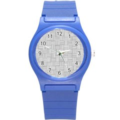 Flooring Household Pattern Round Plastic Sport Watch (s) by Onesevenart