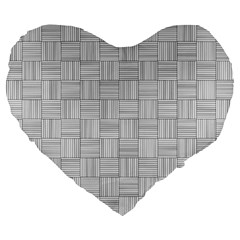 Flooring Household Pattern Large 19  Premium Heart Shape Cushions by Onesevenart