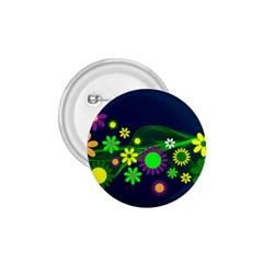 Flower Power Flowers Ornament 1 75  Buttons by Onesevenart