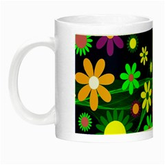 Flower Power Flowers Ornament Night Luminous Mugs by Onesevenart
