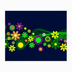 Flower Power Flowers Ornament Small Glasses Cloth (2 Side) by Onesevenart