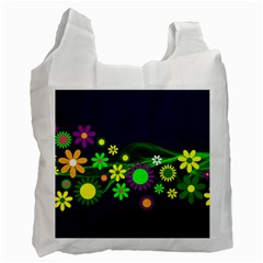 Flower Power Flowers Ornament Recycle Bag (two Side)  by Onesevenart