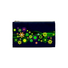 Flower Power Flowers Ornament Cosmetic Bag (small)  by Onesevenart