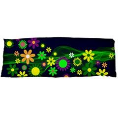 Flower Power Flowers Ornament Body Pillow Case (dakimakura) by Onesevenart