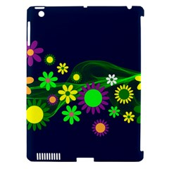 Flower Power Flowers Ornament Apple Ipad 3/4 Hardshell Case (compatible With Smart Cover) by Onesevenart
