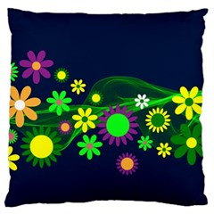 Flower Power Flowers Ornament Large Cushion Case (one Side) by Onesevenart