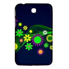 Flower Power Flowers Ornament Samsung Galaxy Tab 3 (7 ) P3200 Hardshell Case  by Onesevenart