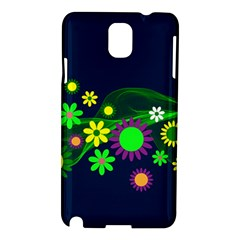 Flower Power Flowers Ornament Samsung Galaxy Note 3 N9005 Hardshell Case by Onesevenart