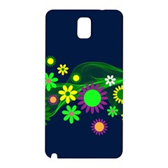 Flower Power Flowers Ornament Samsung Galaxy Note 3 N9005 Hardshell Back Case by Onesevenart