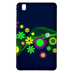 Flower Power Flowers Ornament Samsung Galaxy Tab Pro 8 4 Hardshell Case by Onesevenart