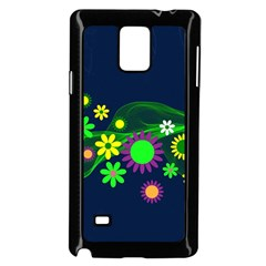 Flower Power Flowers Ornament Samsung Galaxy Note 4 Case (black) by Onesevenart