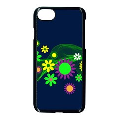 Flower Power Flowers Ornament Apple Iphone 7 Seamless Case (black) by Onesevenart