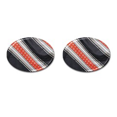 Bed Linen Microfibre Pattern Cufflinks (oval) by Onesevenart