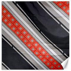 Bed Linen Microfibre Pattern Canvas 12  X 12   by Onesevenart