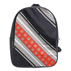 Bed Linen Microfibre Pattern School Bags(large)  by Onesevenart