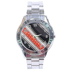 Bed Linen Microfibre Pattern Stainless Steel Analogue Watch by Onesevenart