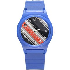 Bed Linen Microfibre Pattern Round Plastic Sport Watch (s) by Onesevenart