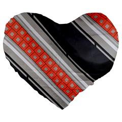 Bed Linen Microfibre Pattern Large 19  Premium Flano Heart Shape Cushions by Onesevenart