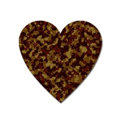 Camouflage Tarn Forest Texture Heart Magnet by Onesevenart