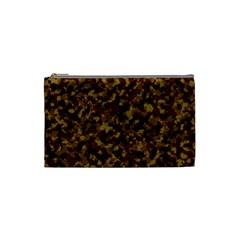 Camouflage Tarn Forest Texture Cosmetic Bag (small)  by Onesevenart