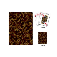 Camouflage Tarn Forest Texture Playing Cards (mini)  by Onesevenart