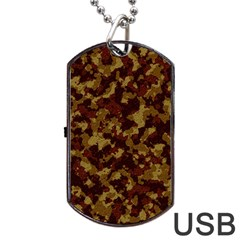 Camouflage Tarn Forest Texture Dog Tag Usb Flash (two Sides) by Onesevenart