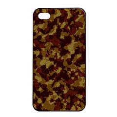 Camouflage Tarn Forest Texture Apple Iphone 4/4s Seamless Case (black) by Onesevenart