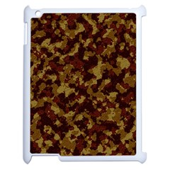 Camouflage Tarn Forest Texture Apple Ipad 2 Case (white) by Onesevenart