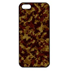 Camouflage Tarn Forest Texture Apple Iphone 5 Seamless Case (black) by Onesevenart