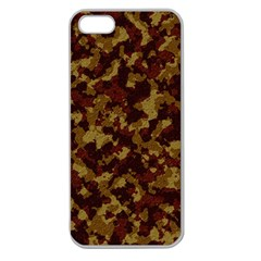 Camouflage Tarn Forest Texture Apple Seamless Iphone 5 Case (clear) by Onesevenart