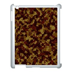 Camouflage Tarn Forest Texture Apple Ipad 3/4 Case (white) by Onesevenart