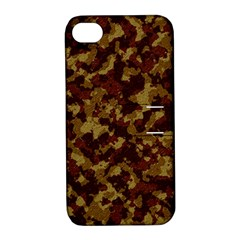 Camouflage Tarn Forest Texture Apple Iphone 4/4s Hardshell Case With Stand by Onesevenart