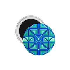 Grid Geometric Pattern Colorful 1 75  Magnets by Onesevenart