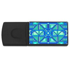 Grid Geometric Pattern Colorful Usb Flash Drive Rectangular (4 Gb) by Onesevenart