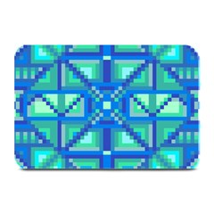 Grid Geometric Pattern Colorful Plate Mats by Onesevenart