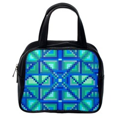 Grid Geometric Pattern Colorful Classic Handbags (one Side) by Onesevenart