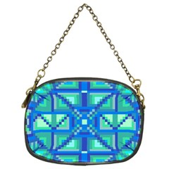 Grid Geometric Pattern Colorful Chain Purses (two Sides)  by Onesevenart